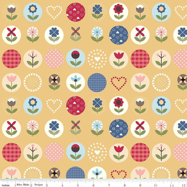 """Gretel"" Gretel Main Yellow by Amy Smart for Penny Rose Fabrics"