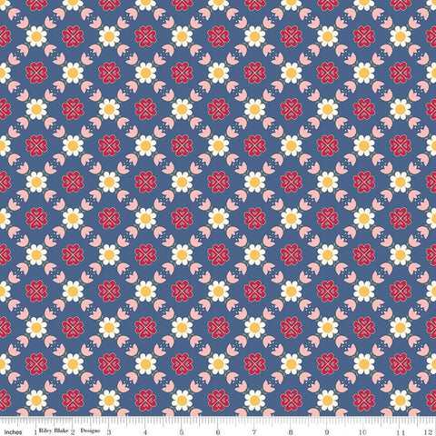 """Gretel"" Gretel Lattice Denim by Amy Smart for Penny Rose Fabrics"