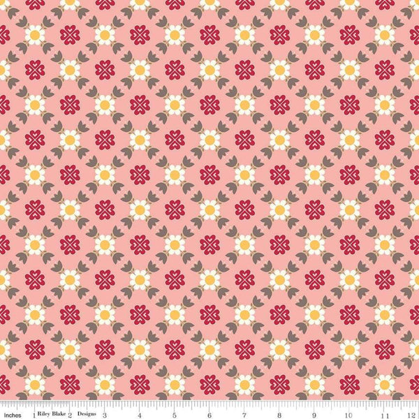 """Gretel"" Gretel Lattice Pink by Amy Smart for Penny Rose Fabrics"