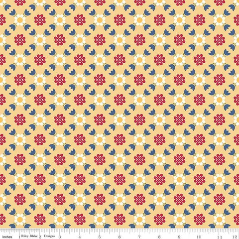 """Gretel"" Gretel Lattice Yellow by Amy Smart for Penny Rose Fabrics"