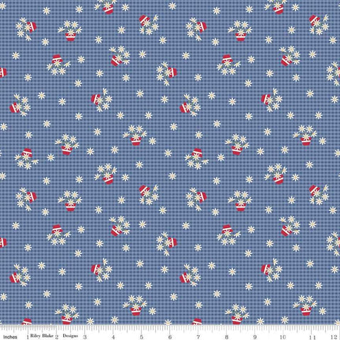 """Gretel"" Gretel Gingham Denim by Amy Smart for Penny Rose Fabrics"
