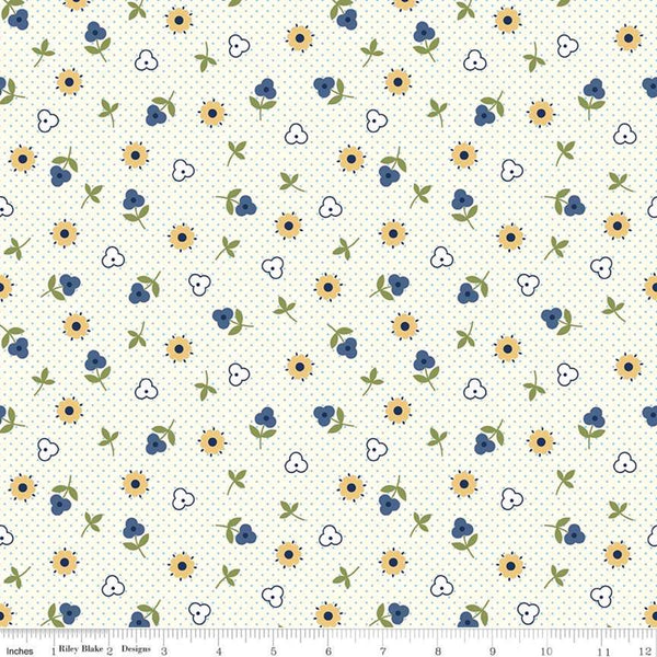 """Gretel"" Gretel Toss Blue by Amy Smart for Penny Rose Fabrics"