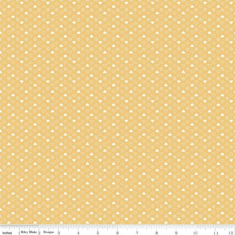 """Gretel"" Gretel Heart Yellow by Amy Smart for Penny Rose Fabrics"
