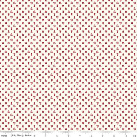 """Gretel"" Gretel Daisy Red by Amy Smart for Penny Rose Fabrics"