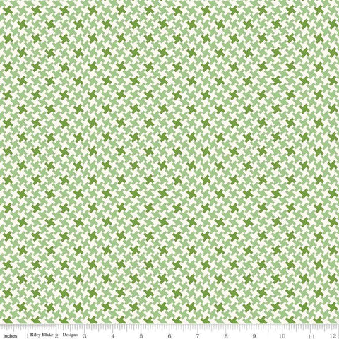 """Farm Girl Vintage""-  Vintage Houndstooth Green by Lori Holt of Bee in My Bonnet for Riley Blake"