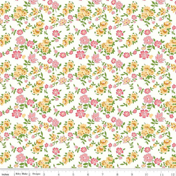 """Granny Chic""- Sheets Yellow by Lori Holt of Bee in My Bonnet for Riley Blake"