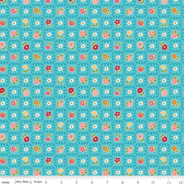 """Granny Chic""- Garden Blue by Lori Holt of Bee in My Bonnet for Riley Blake"