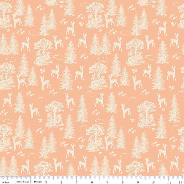 """Woodland Spring""- My Deer Peach by Design by Dani for Riley Blake"