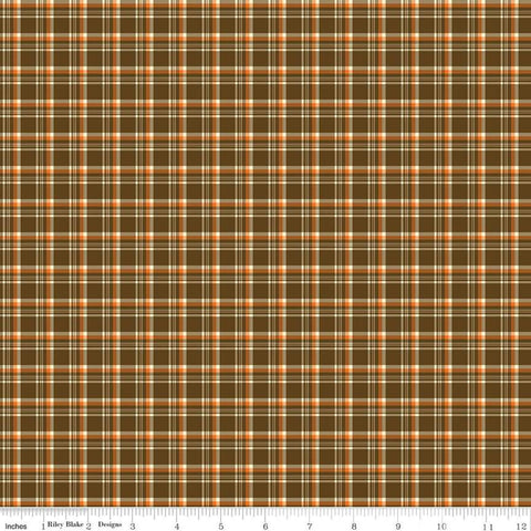 """Give Thanks""- Plaid Brown by Sandy Gervais for Riley Blake Designs"
