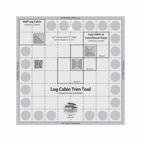 Creative Grids Log Cabin Trim Tool for 8in Finished Blocks