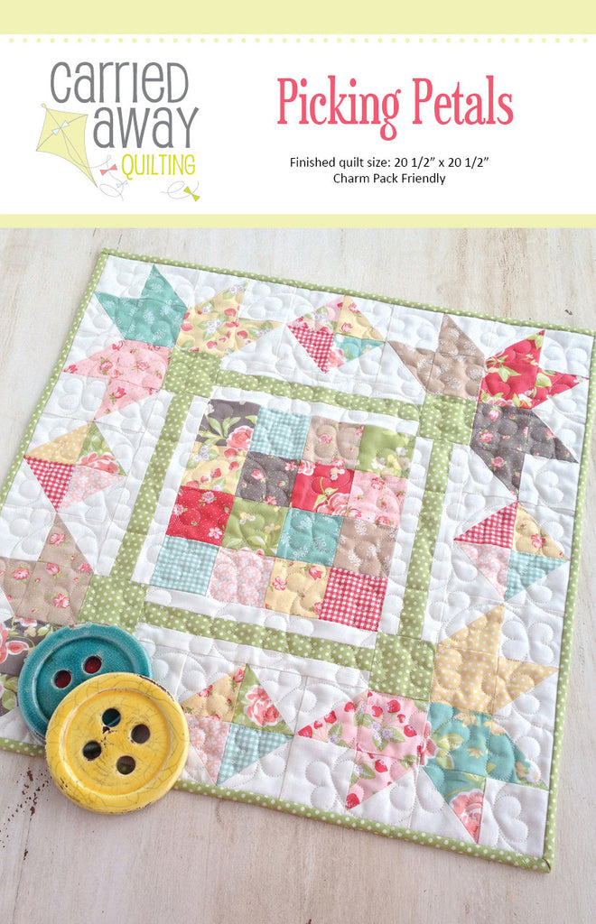 Picking Petals Mini Quilt Pattern by Taunja Kelvington of Carried Away  Quilting
