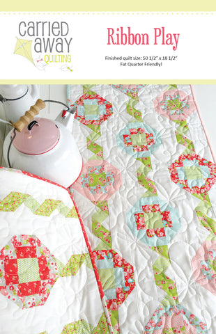 Ribbon Play Runner Pattern by Taunja Kelvington of Carried Away Quilting