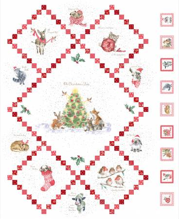 """Warm Wishes"" Ultra White Warm Wishes Digital Panel 36in from Maywood Studio"