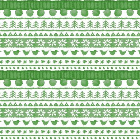 """Warm Wishes"" Green Sweater Stripe Digital from Maywood Studio"
