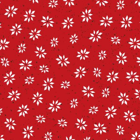 """Warm Wishes"" Red Snowflake Star Digital from Maywood Studio"