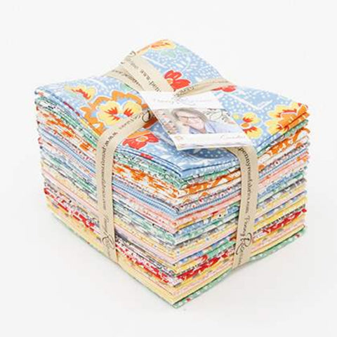 """Lemonade Sundae"" Fat Quarter Bundle 21 - 18""x 22"" cuts by Leonie Bateman for Penny Rose Fabrics"
