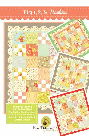 Fig 1 2 3 Hankies Quilt Pattern by Fig Tree & Co.