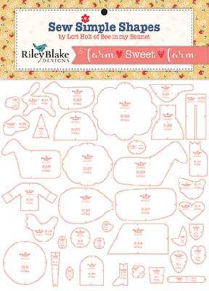 Farm Sweet Farm Sew Simple Shapes Templates