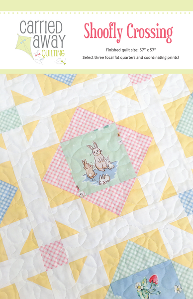 Shoofly Crossing Quilt Kit in Bunnies & Cream by Taunja Kelvington of Carried Away Quilting