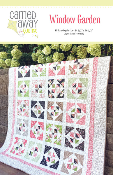 Lovely Window Garden Quilt Pattern By Taunja Kelvington Of Carried Away Quilting