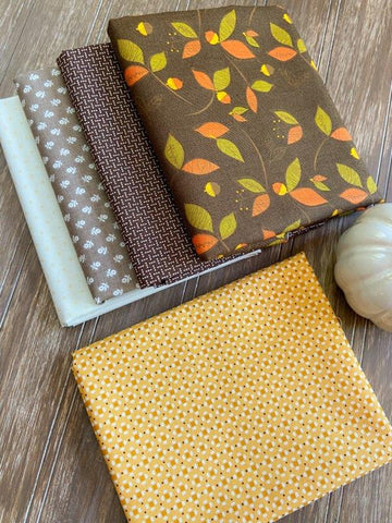 Fat Quarter Flourish Mini Quilt Kit...Autumn Version