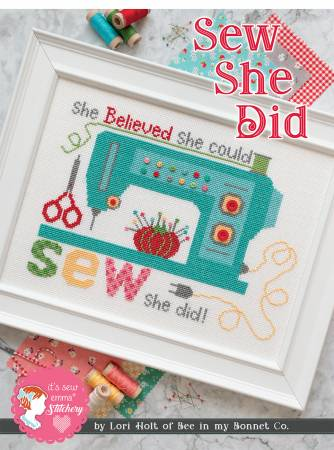 Sew She Did Cross Stitch Pattern by Lori Holt of Bee in My Bonnet