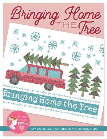 Bringing Home The Tree Cross Stitch by Lori Holt of Bee in My Bonnet