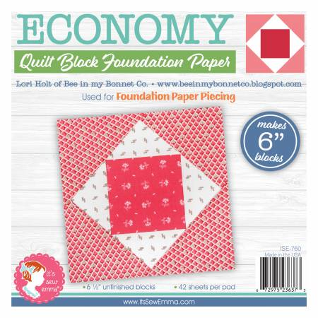 Economy Quilt Block 6in Foundation Paper Pad by Lori Holt