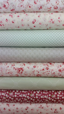 """Lecien's Roses""-Bundled Beauties 1/2 Yard Bundle"