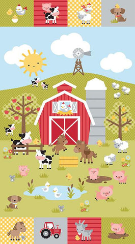 """Down on the Farm"" Panel by Doodlebug Design Inc. for Riley Blake"