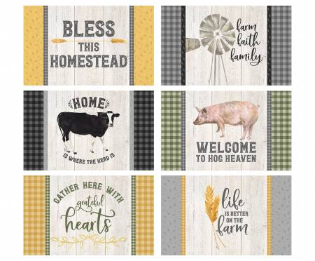 Homestead Life Placemat Panel by Tara Reed for Riley Blake