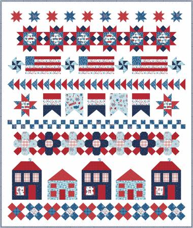 Let Freedom Ring Pattern by Primrose Cottage Quilts