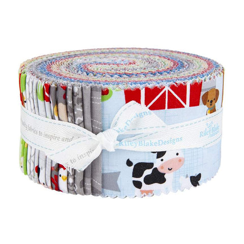 """Down on the Farm"" 2 1/2"" Rolie Polie by Doodlebug Design Inc. for Riley Blake"