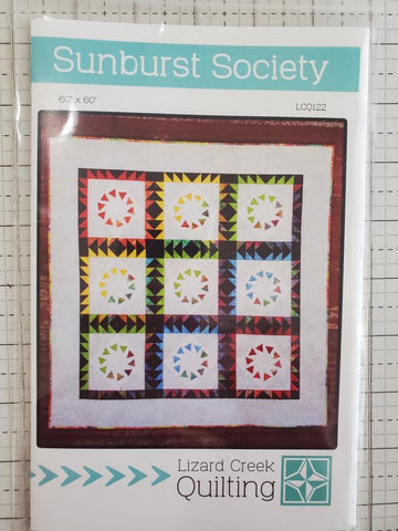 Sunburst Society Quilt Pattern by Lizard Creek Quilting
