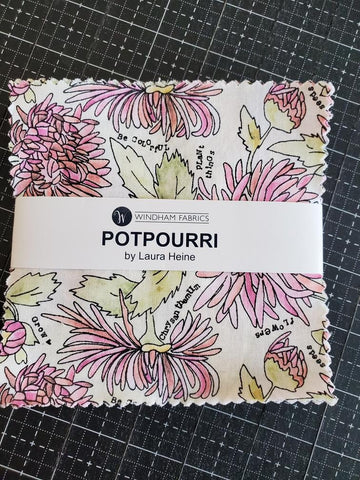 """Potpourri"" 42 piece 5 inch Square by Laura Heine for Windham Fabrics"