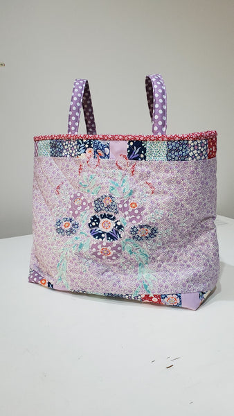 Tilda Applique Bag Kit in Tilda Bird Pond fabric