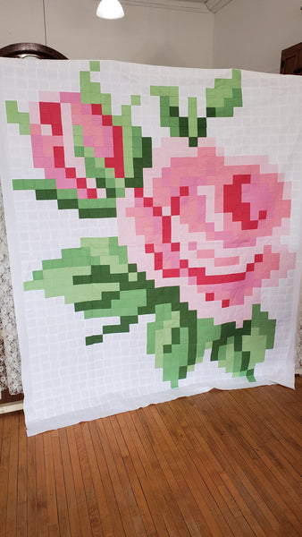 Pixelated Rose Quilt Kit by Riley Blake