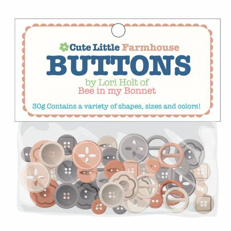 """Cute Little Buttons"" Farmhouse Assortment by Lori Holt of Bee in My Bonnet"