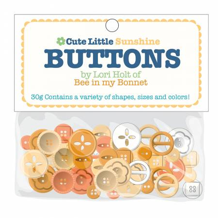 """Cute Little Buttons"" Sunshine Assortment by Lori Holt of Bee in My Bonnet"