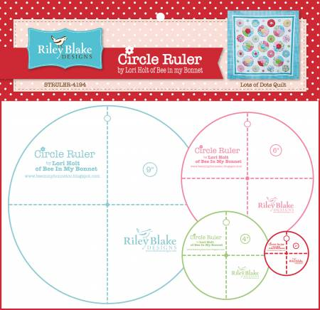 Lori Holt Circle Rulers With 9in , 6in , 4in and 2-1/2in by Lori Holt of Bee in my Bonnet