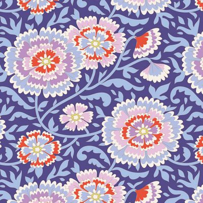 """Bird Pond""-Elodie Lilac Blue by Tone Finnanger for Tilda"