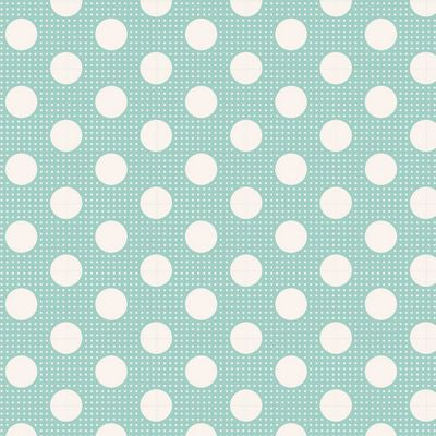 """Tilda Dots""-Medium Dots Teal by Tone Finnanger for Tilda"