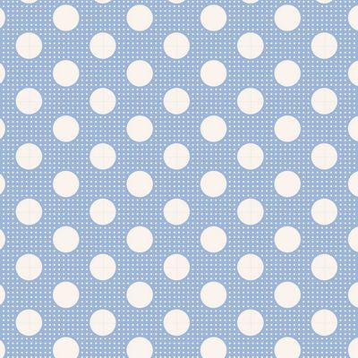 """Tilda Dots""-Medium Dots Blue by Tone Finnanger for Tilda"