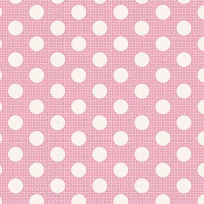 """Tilda Dots""-Medium Dots Pink by Tone Finnanger for Tilda"