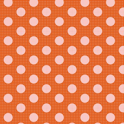 """Tilda Dots""-Medium Dots Ginger by Tone Finnanger for Tilda"