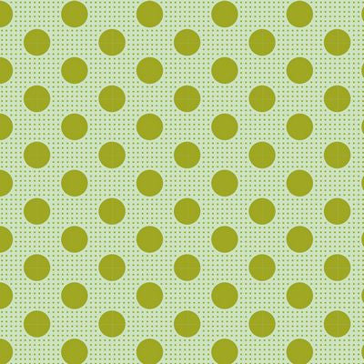 """Tilda Dots""-Medium Dots Green by Tone Finnanger for Tilda"