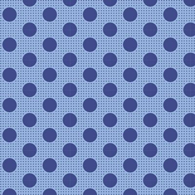 """Tilda Dots""-Medium Dots Denim Blue by Tone Finnanger for Tilda"