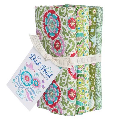 Tilda Bird Pond Collection- Green/Sage Fat Quarter Bundle