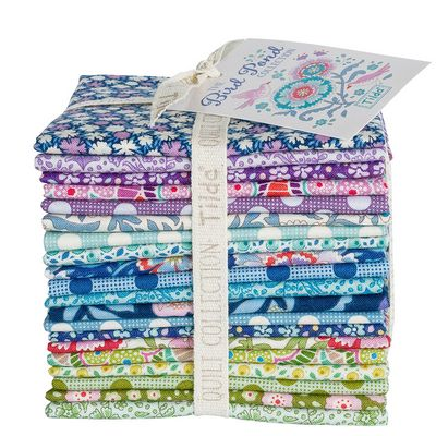 Tilda Bird Pond Collection Cool Colors-Fat Eighth Bundle