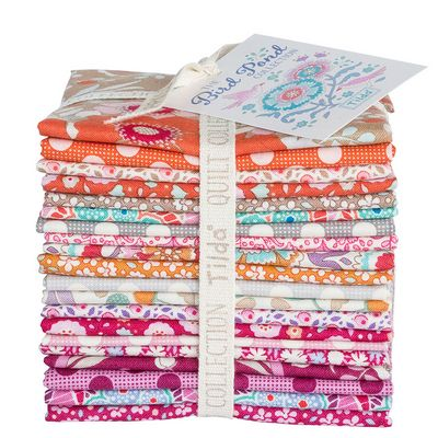 Tilda Bird Pond Collection Warm Colors-Fat Eighth Bundle